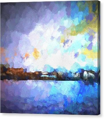 Chelan Winter Impression 1 Canvas Print by Tonya Doughty