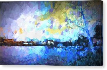Chelan Winter Impression 3 Canvas Print by Tonya Doughty
