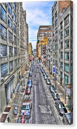 Chelsea Street From The High Line Canvas Print by Randy Aveille