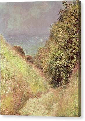 Chemin De La Cavee Pourville Canvas Print by Claude Monet