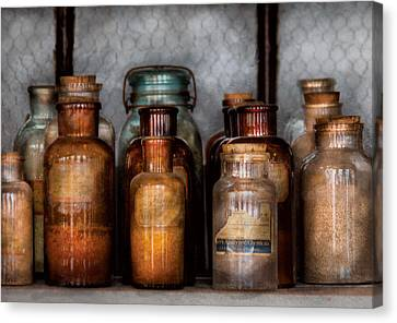Chemist - Various Chemicals Canvas Print by Mike Savad