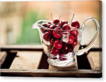 Cherries Canvas Print by Nailia Schwarz