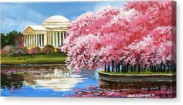 Cherry Blossom Festival Canvas Print by Sarah Grangier