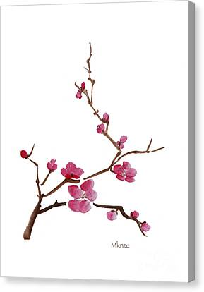 Cherry Blossoms 1 Canvas Print by McKenzie Leopold