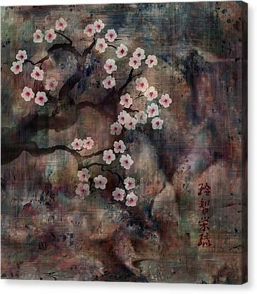 Cherry Blossoms Canvas Print by Rachel Christine Nowicki