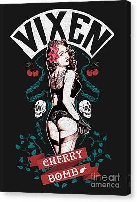Cherry Bomb Vixen Canvas Print by Neil Hyde