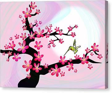 Cherry Tree Canvas Print by Anastasiya Malakhova