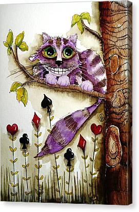 Cheshire Cat Canvas Print by Lucia Stewart