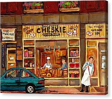 Cheskies Hamishe Bakery Canvas Print by Carole Spandau