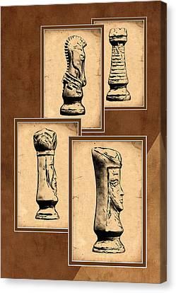 Chess Pieces Canvas Print by Tom Mc Nemar