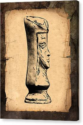 Chess Queen Canvas Print by Tom Mc Nemar