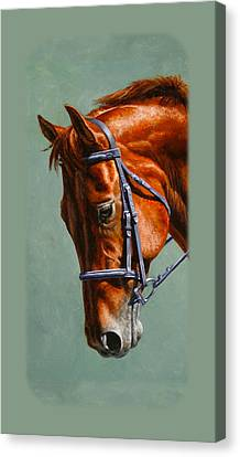 Chestnut Dressage Horse Phone Case Canvas Print by Crista Forest