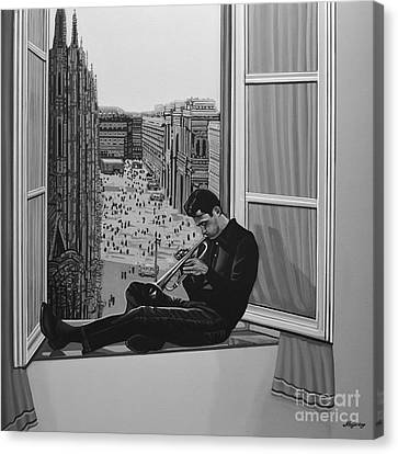 Chet Baker Canvas Print by Paul Meijering