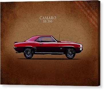 Chevrolet Camaro Ss 396 Canvas Print by Mark Rogan