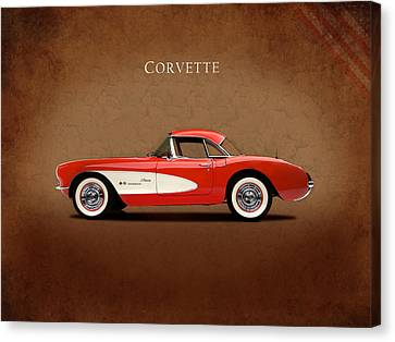 Chevrolet Corvette 1957 Canvas Print by Mark Rogan