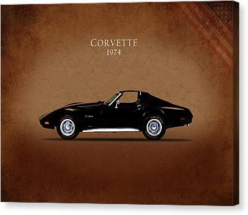 Chevrolet Corvette 1974 Canvas Print by Mark Rogan