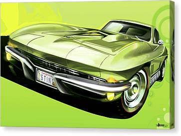 Chevrolet Corvette C2 Sting Ray Canvas Print by Uli Gonzalez
