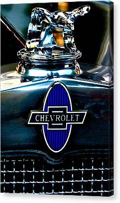 Chevrolet Hoodie Canvas Print by Gwyn Newcombe