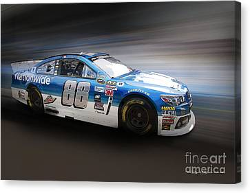 Chevrolet Ss Nascar Canvas Print by Roger Lighterness