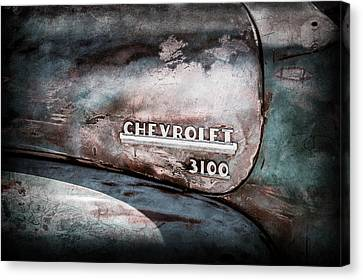 Chevrolet Truck Side Emblem -0842ac1 Canvas Print by Jill Reger