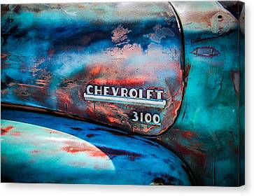 Chevrolet Truck Side Emblem -0842c1 Canvas Print by Jill Reger