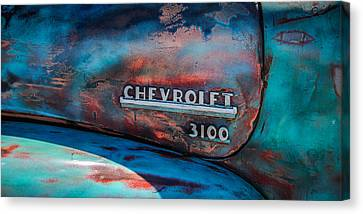 Chevrolet Truck Side Emblem -0842c2 Canvas Print by Jill Reger