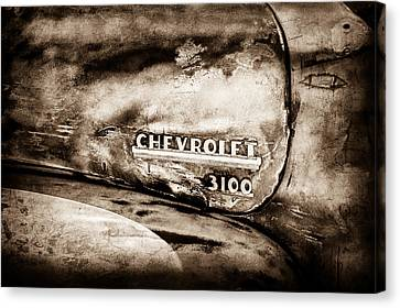 Chevrolet Truck Side Emblem -0842s1 Canvas Print by Jill Reger