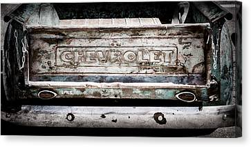 Chevrolet Truck Tail Gate Emblem -0839ac Canvas Print by Jill Reger