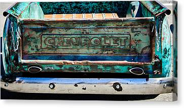 Chevrolet Truck Tail Gate Emblem -0839c Canvas Print by Jill Reger