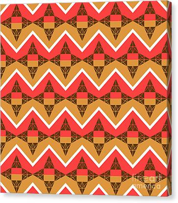 Chevron And Triangles Canvas Print by Gaspar Avila