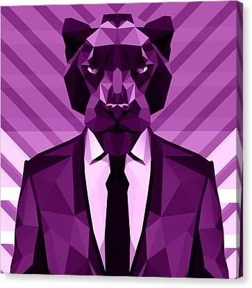 Chevron Panther Canvas Print by Filip Aleksandrov