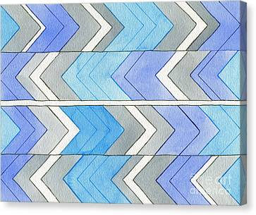 Chevron Sensation Canvas Print by Norma Appleton