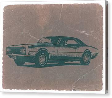 Chevy Camaro Canvas Print by Naxart Studio