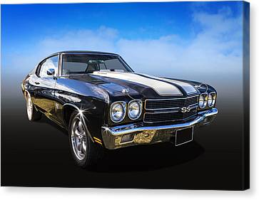 Chevy Muscle Canvas Print by Keith Hawley