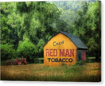 Chew Red Man Canvas Print by Lori Deiter