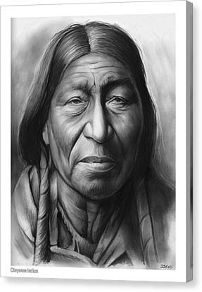 Cheyenne Canvas Print by Greg Joens