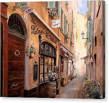 Chez Palmyre Canvas Print by Guido Borelli