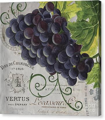 Vins De Champagne 2 Canvas Print by Debbie DeWitt