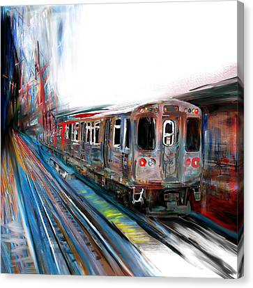 Chicago 211 1 Canvas Print by Mawra Tahreem