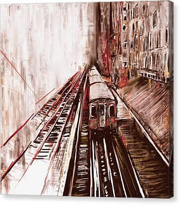 Chicago 214 3 Canvas Print by Mawra Tahreem