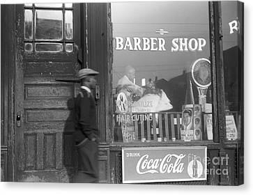 Chicago: Barber Shop, 1941 Canvas Print by Granger