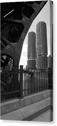 Chicago Bridge And Buildings Canvas Print by Dmitriy Margolin