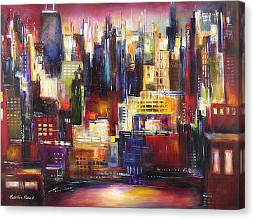 Chicago City View Canvas Print by Kathleen Patrick