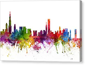 Chicago Cityscape 06 Canvas Print by Aged Pixel
