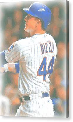 Chicago Cubs Anthony Rizzo 2 Canvas Print by Joe Hamilton