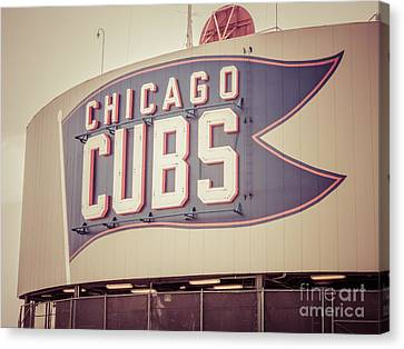 Chicago Cubs Sign Vintage Picture Canvas Print by Paul Velgos