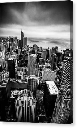 Chicago From Above Canvas Print by Andrew Soundarajan