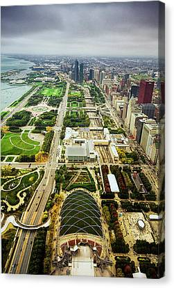 Chicago From Atop Canvas Print by Andrew Soundarajan