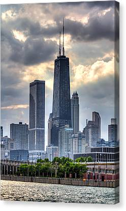 Chicago From The Pier Canvas Print by Joshua Ball