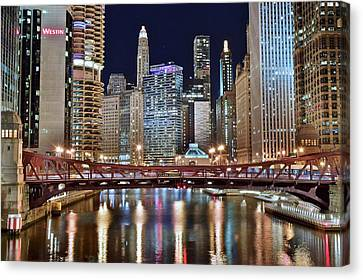 Chicago Full City View Canvas Print by Frozen in Time Fine Art Photography
